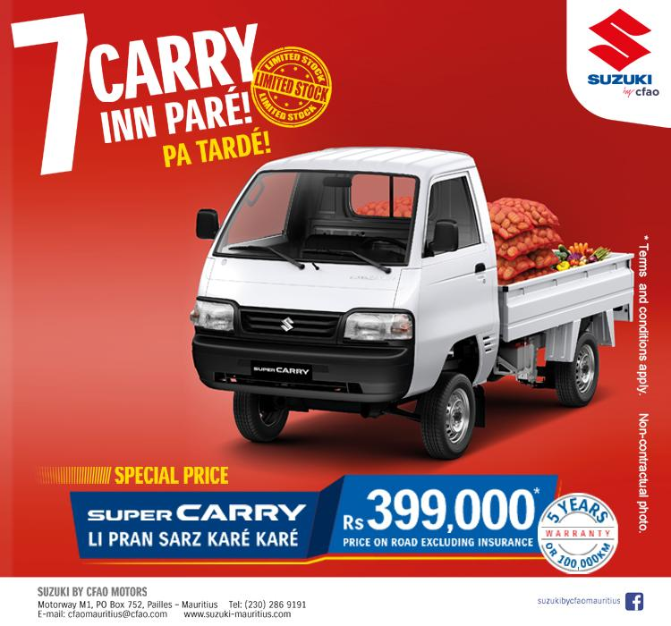 Prix spécial sur la Super Carry